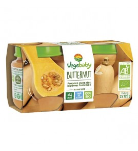 VEGEBABY POT COURGE BUTTERNUT 2X120G